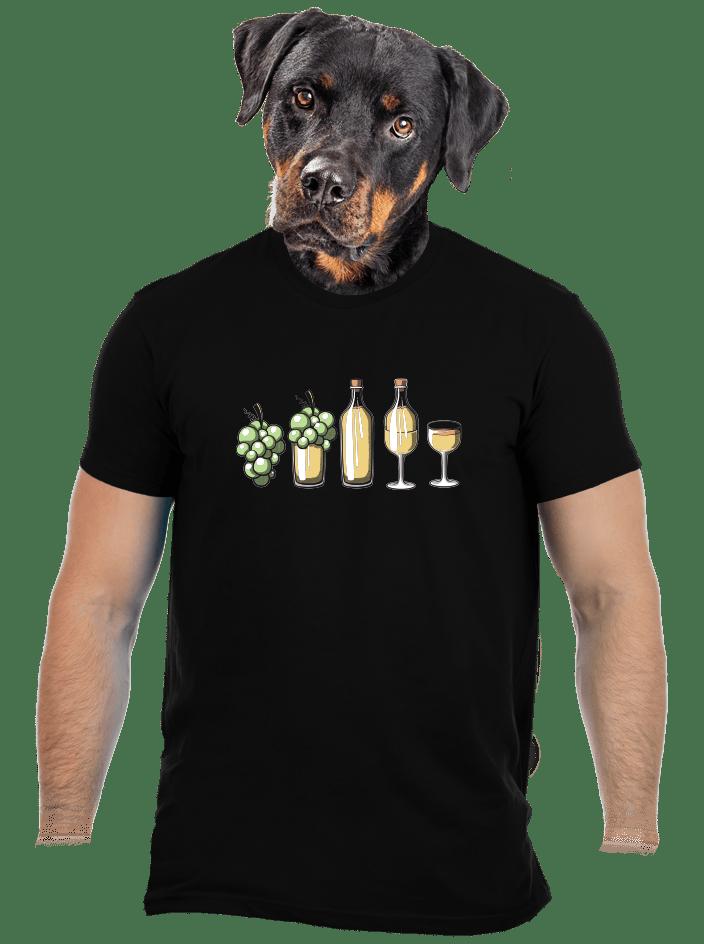 Evolúcia bieleho vína pánske tričko