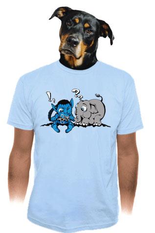 Error 501 modré pánske tričko