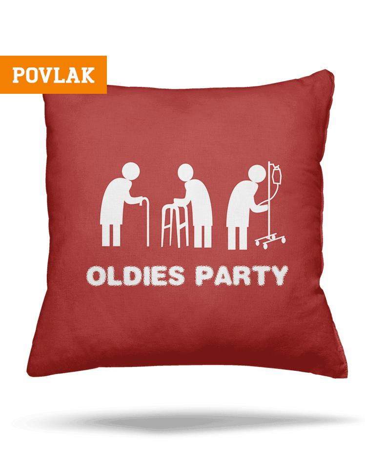 Oldies party obliečka na vankúš