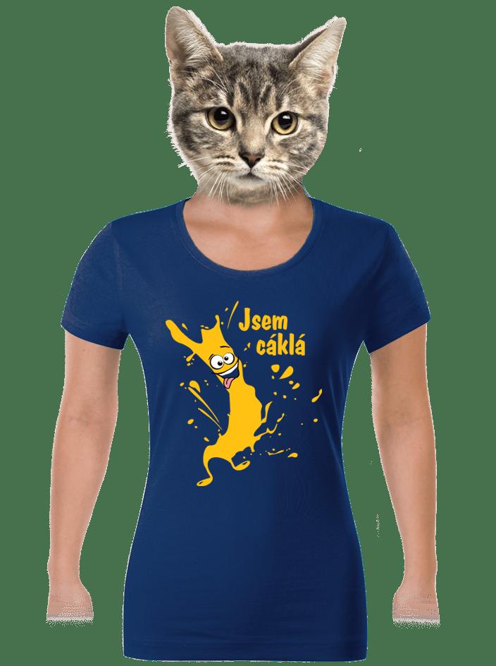 Cáklá modré dámske tričko