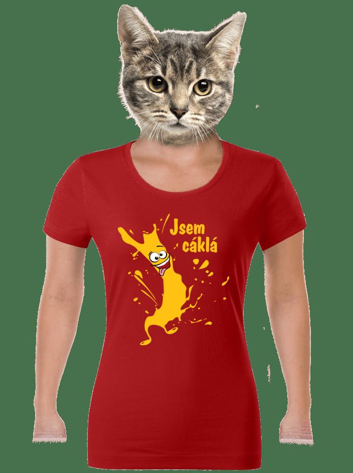 Cáklá červené dámske tričko