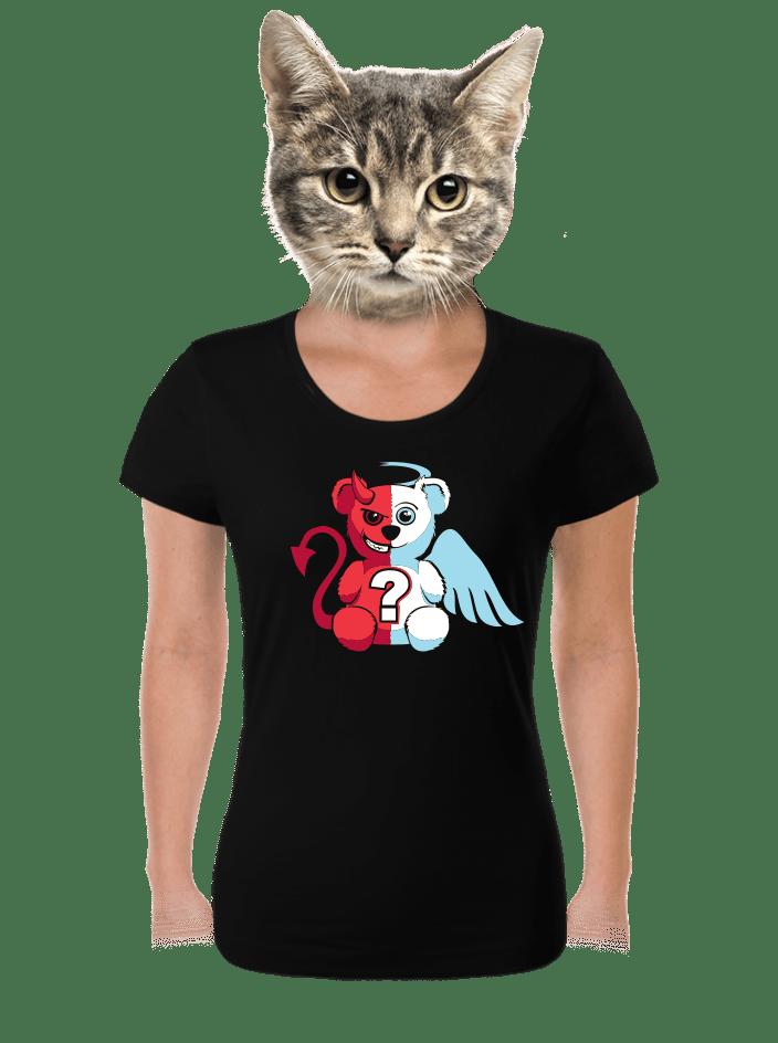 Anjel vs. diabol dámske tričko