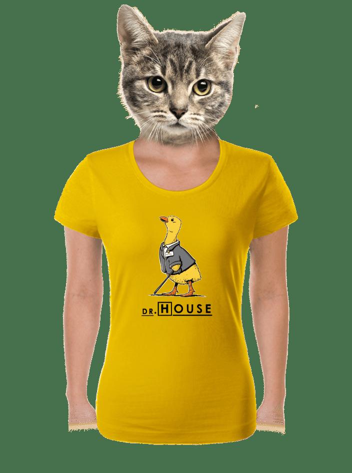 Dr. House žlté dámske tričko