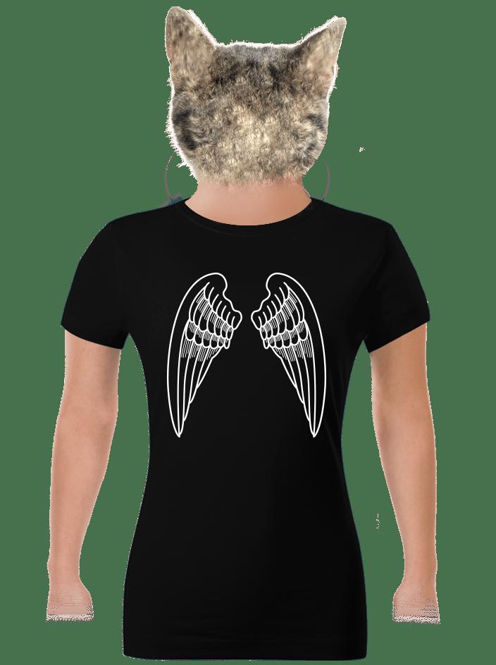 Krídla čierne dámske tričko