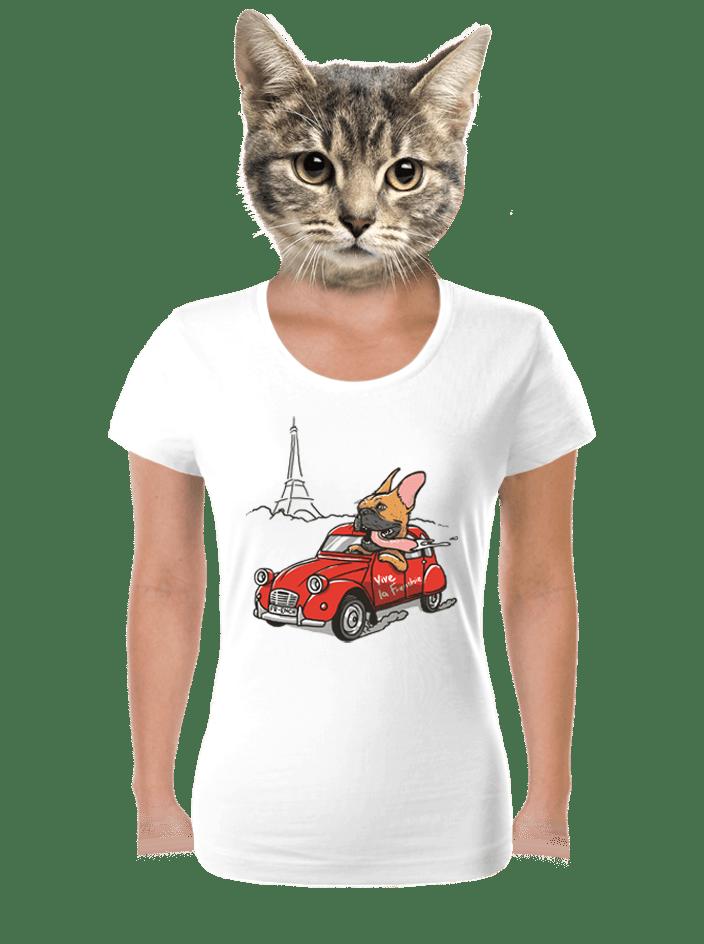 Francúzsky buldoček dámske tričko