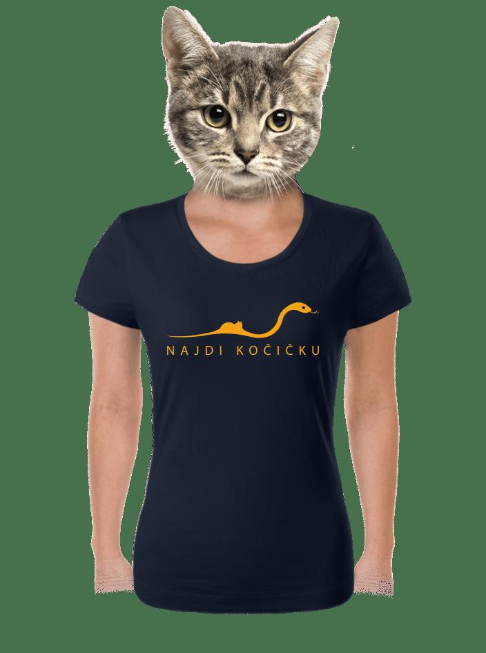 Najdi kočičku dámske tričko