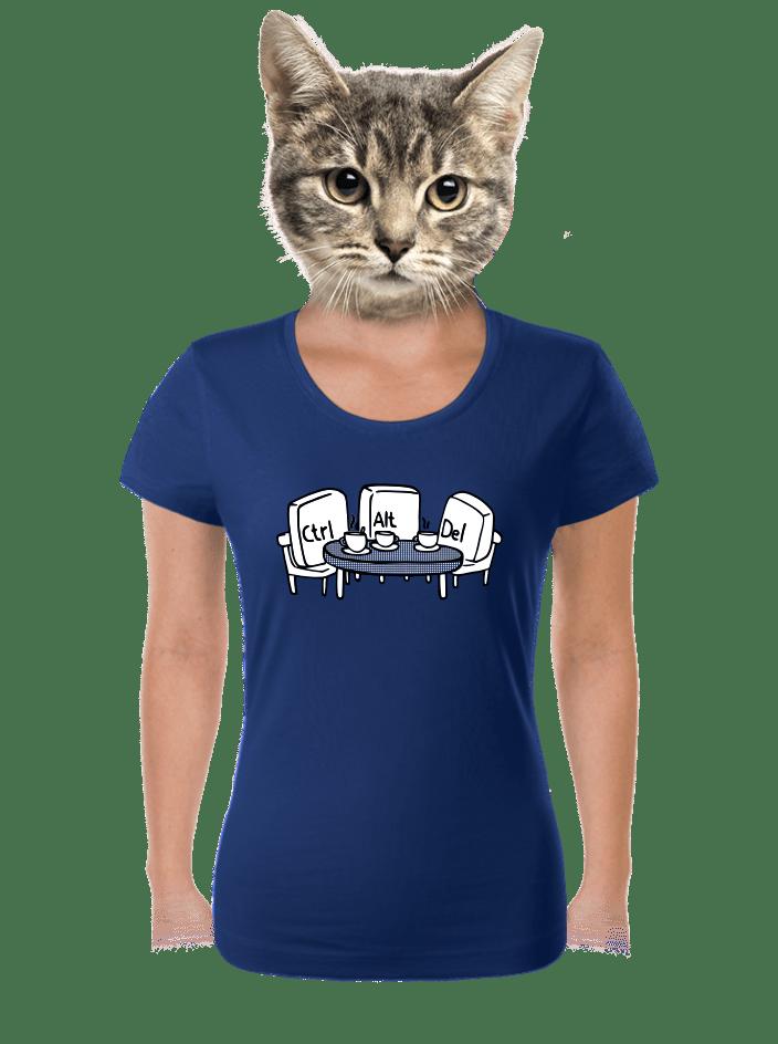 Nerozluční kamaráti modré dámske tričko