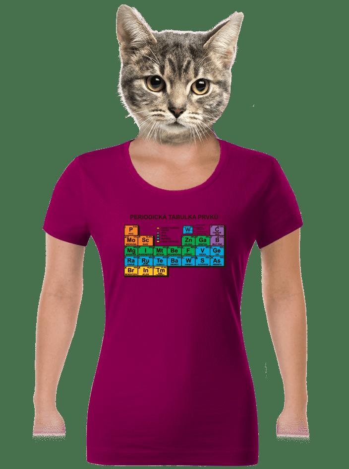 Periodická tabuľka dámske tričko