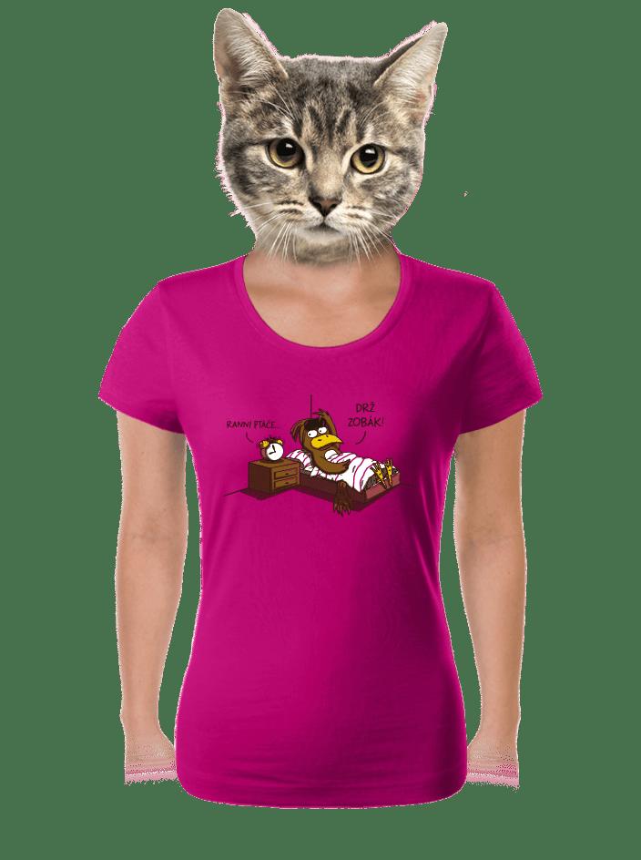 Ranní ptáče dámske tričko
