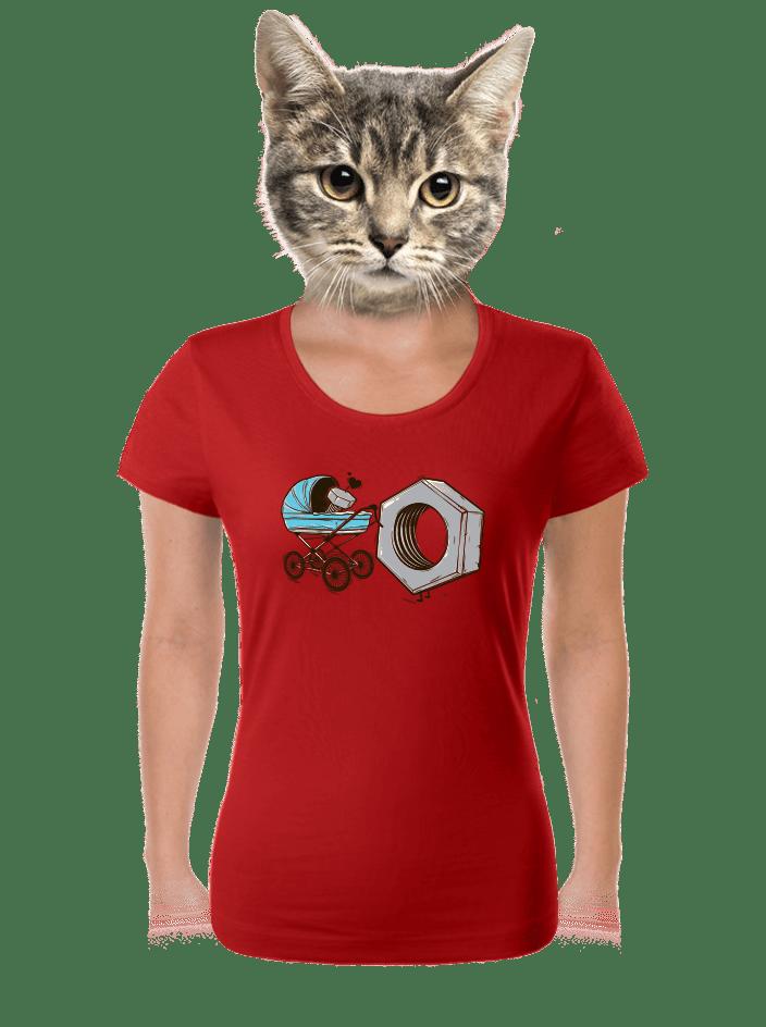 Správna matka červené dámske tričko