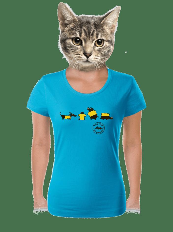 Testované na zvieratách dámske tričko