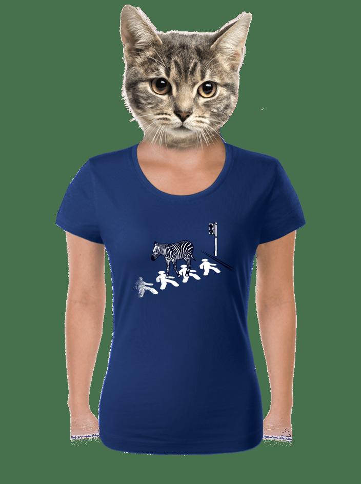 Zebra dámske tričko