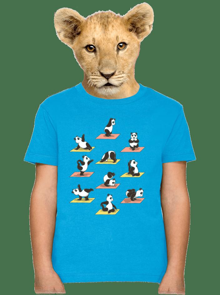 Pandia jóga detské tričko