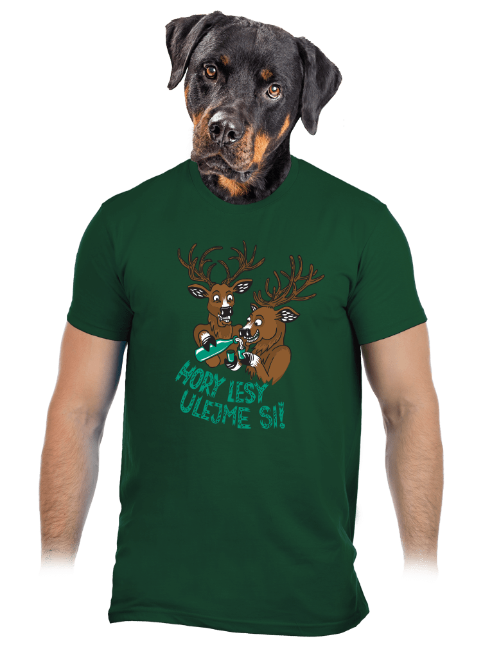 Hory lesy ulejme si pánske tričko