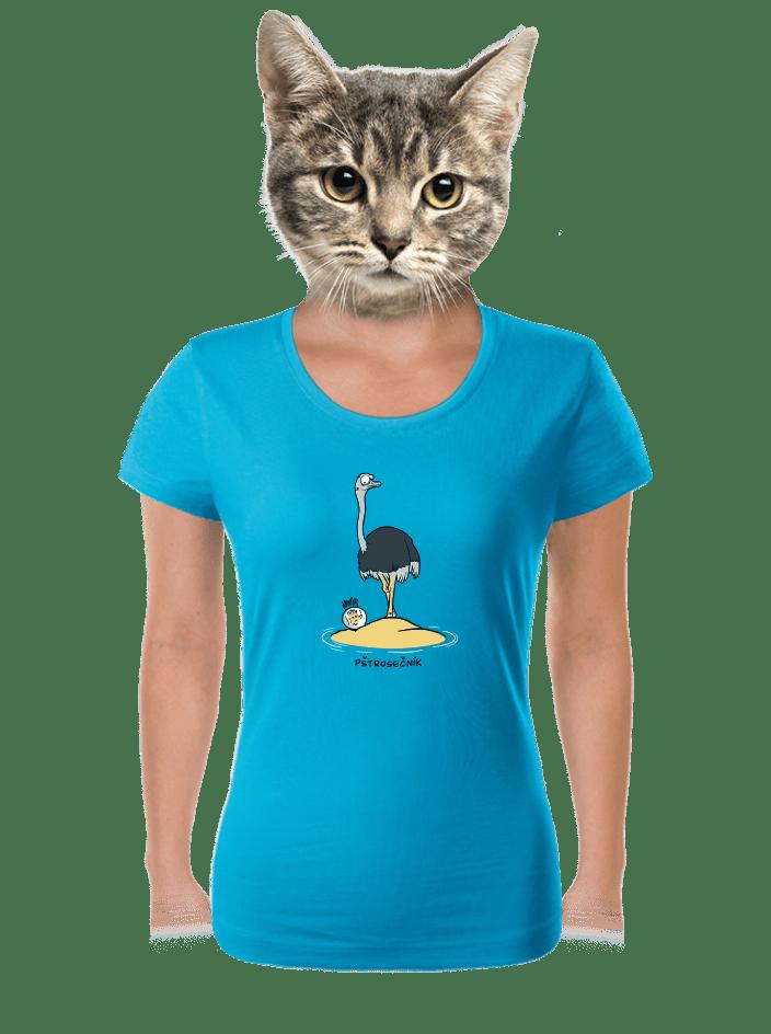Pštrosečník dámske tričko
