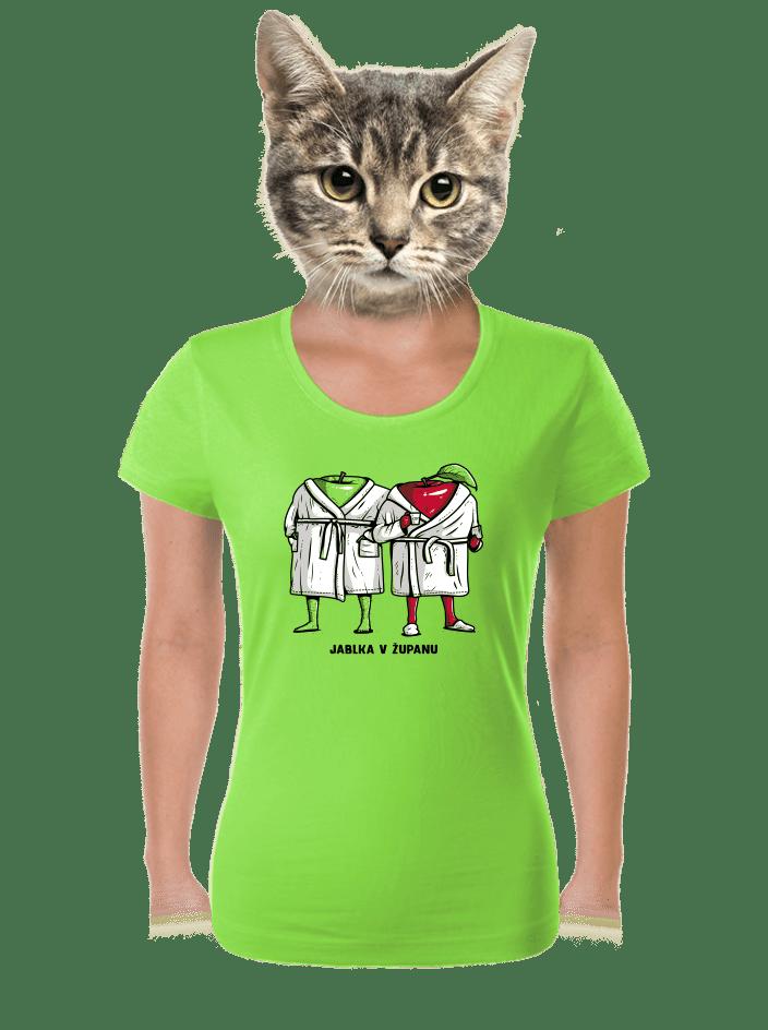 Jablka v županu dámske tričko