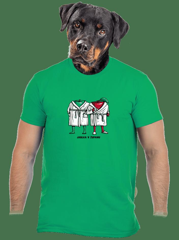 Jablka v županu pánske tričko