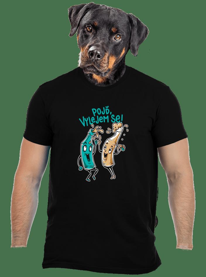 Vyliate pánske tričko