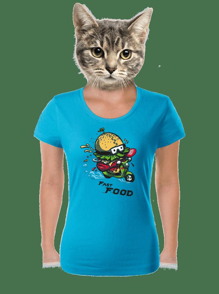 Fast food dámske tričko