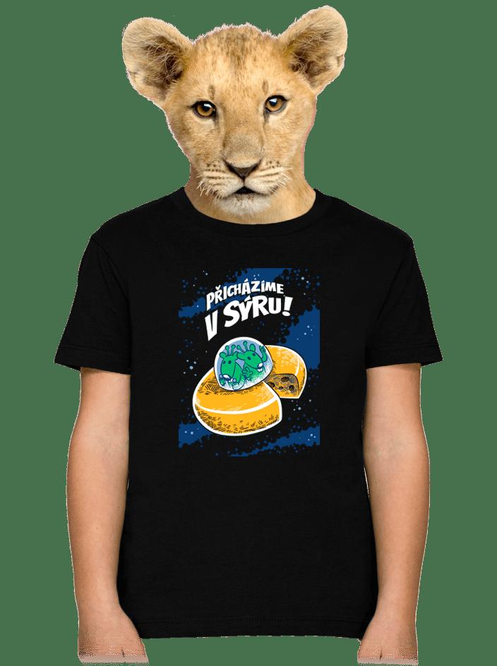 Přicházíme v sýru detské tričko