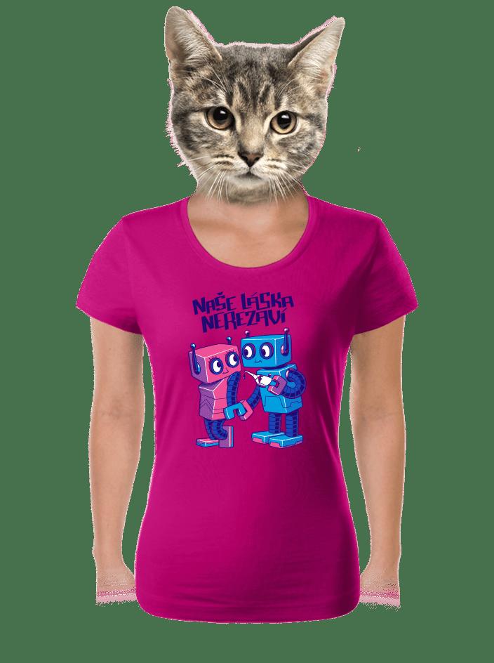 Roboti dámske tričko