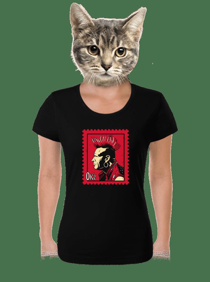 Známka punku dámske tričko