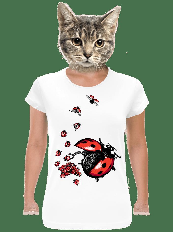 e52f0902d895 Ladybird Factory biele dámske tričko