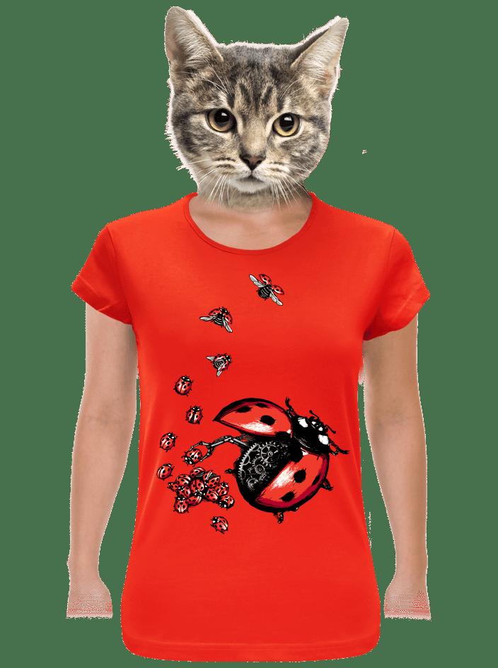 Ladybird Factory červené dámske tričko