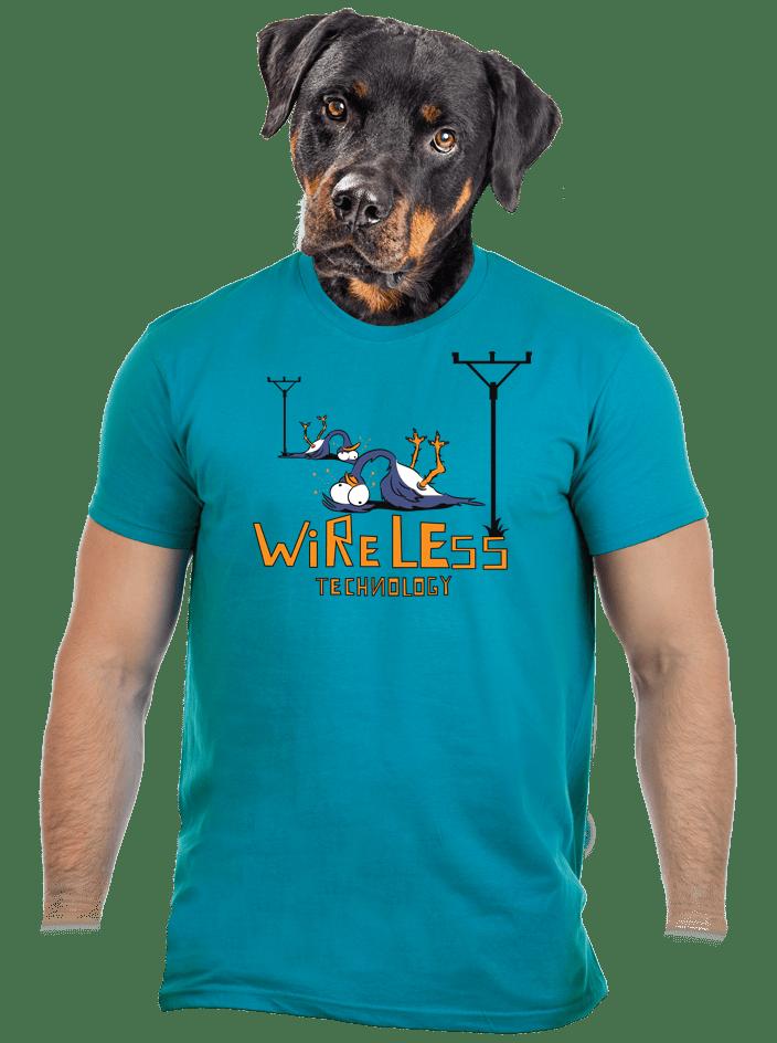 Bezdrát modré pánske tričko