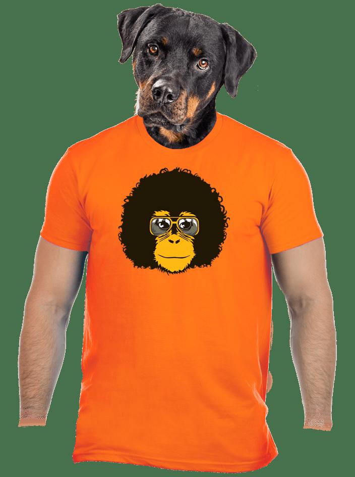 Retro opičiak oranžové pánske tričko