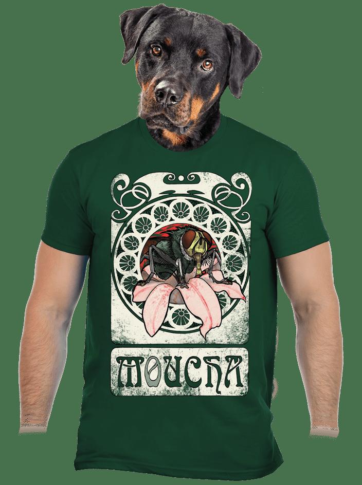 Mucha zelené pánske tričko