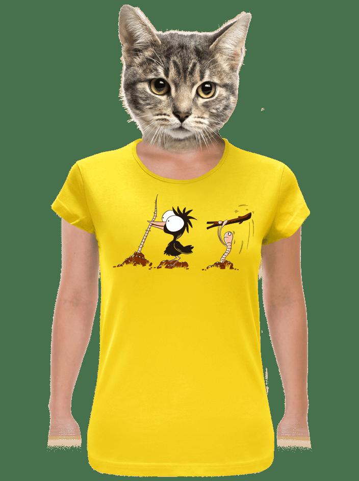 Nesprávny koniec žlté dámske tričko