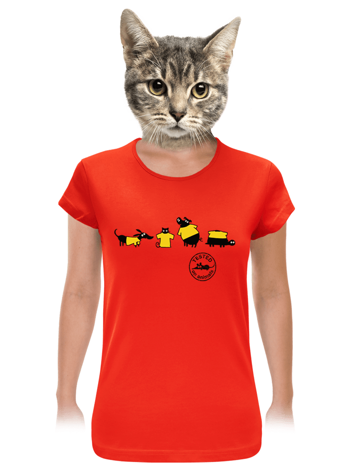 Testované červené dámske tričko