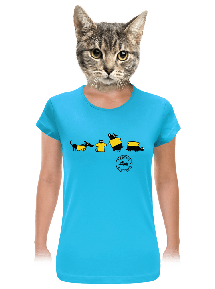 Testované modré dámske tričko