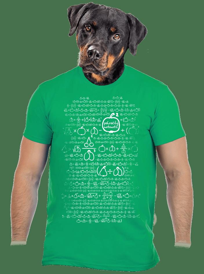 Matematik zelené pánske tričko