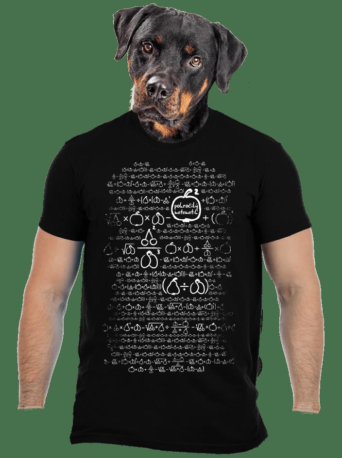 Matematik čierné pánske tričko