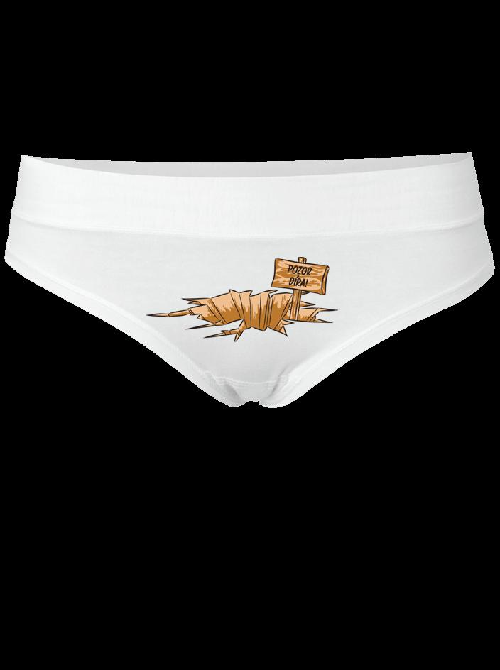 Pozor díra - biele nohavičky