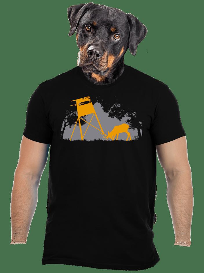 Lesná harmónia čierne pánske tričko