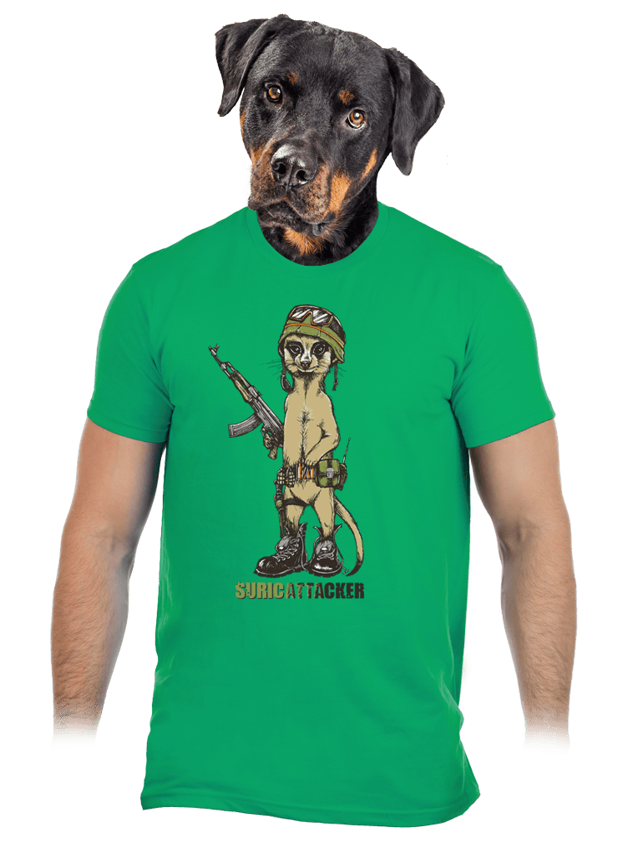 Surikata zelené pánske tričko